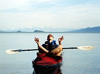 Kayaking in S.E. Alaska, taking a break