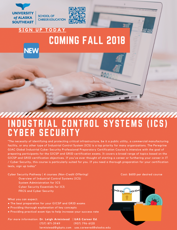 Superior School Of Career Education. Industrial Control Systems Cyber Security Fall Course  Offering