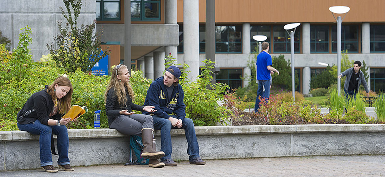 On-campus scene