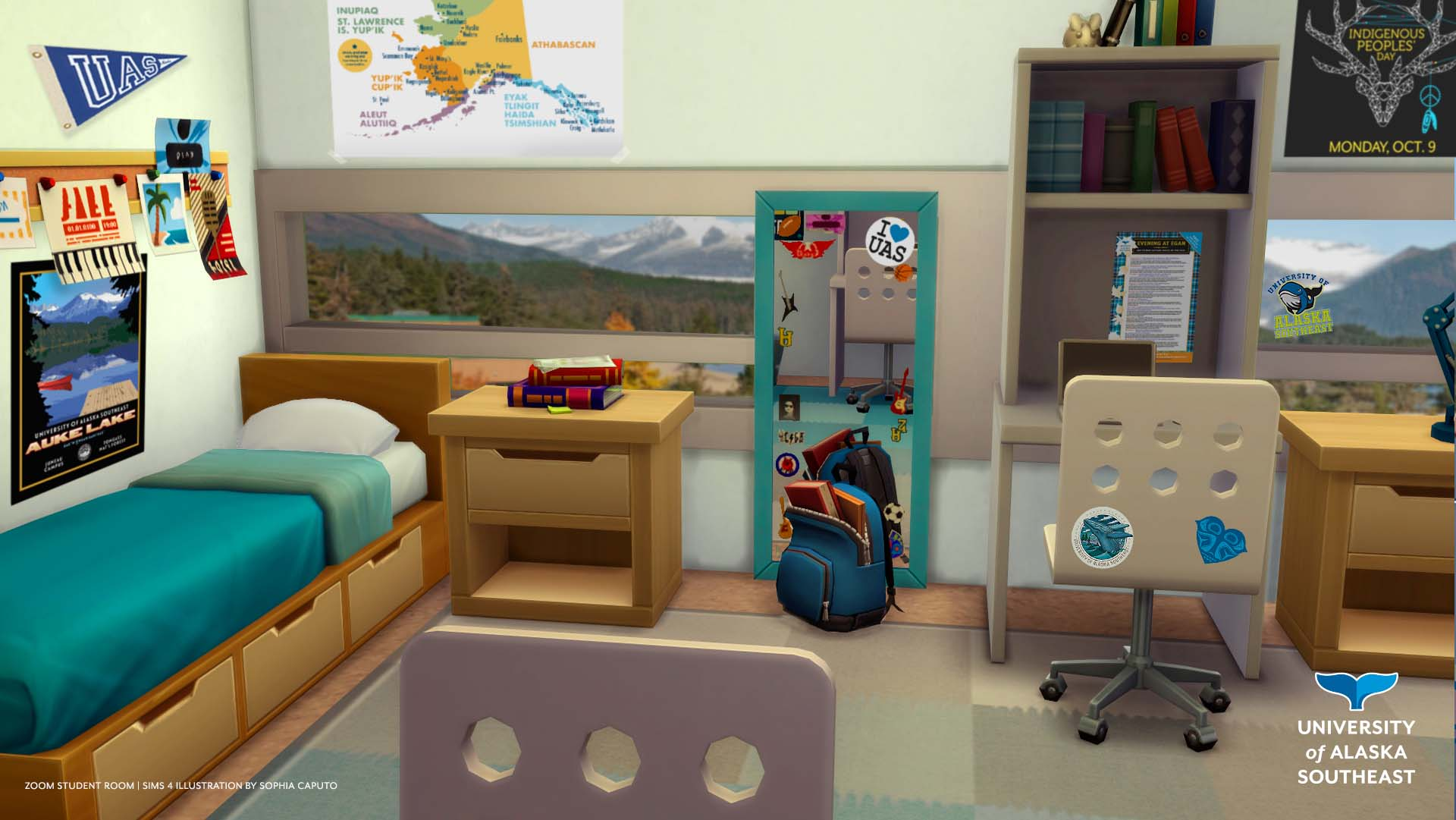 UAS Student Dorm Room Zoom Background