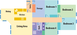 Four bedroom apartment layouts