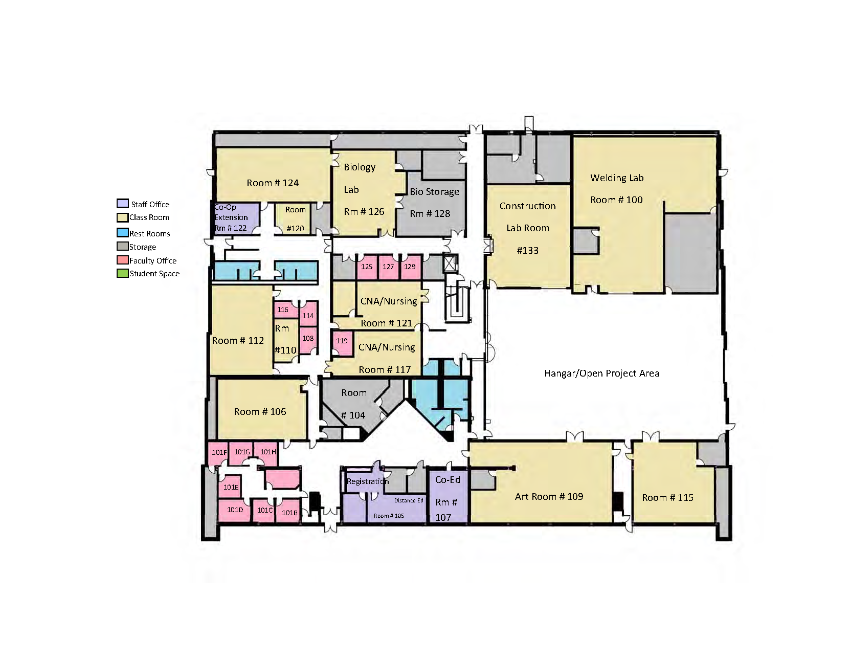 Location and facilities sitka campus university of for Alaska floor plans